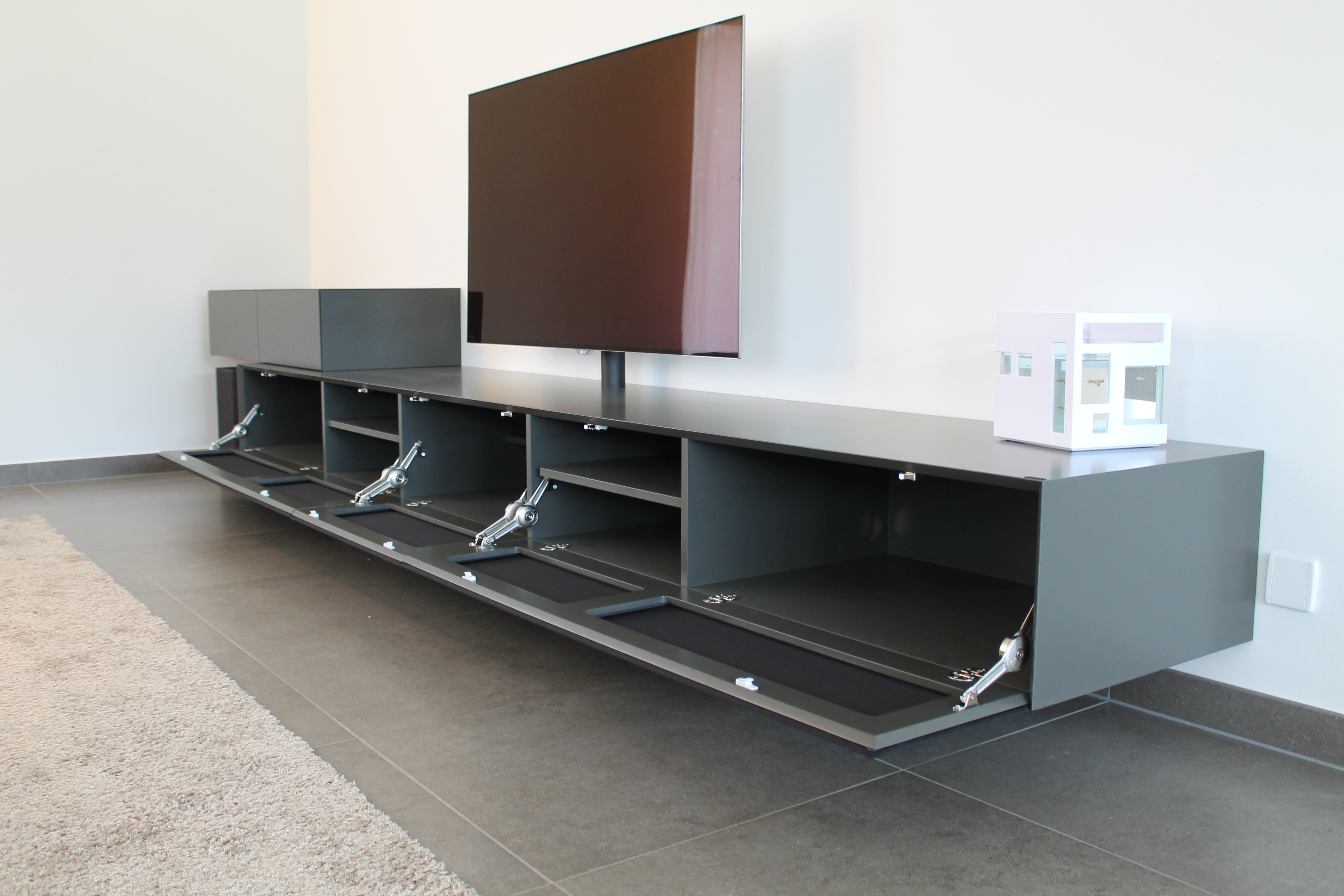 Tv Kast Zwevend : Maatwerk in tv meubels ardeno media furniture
